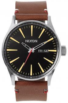 Hodinky Nixon Sentry Leather Black Brown A105 019