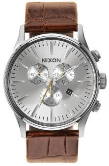 Hodinky Nixon Sentry Chrono Leather Saddle Gator A405 1888