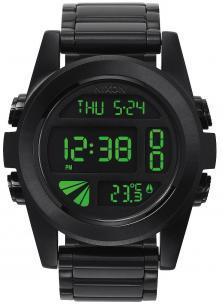 Hodinky Nixon Unit SS All Black Green A360 032