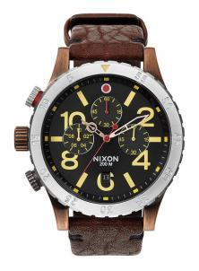 Hodinky Nixon 48-20 Chrono Leather Antique Copper A363 1625