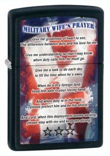 Zapalovač Zippo Military Wife Prayer 26418