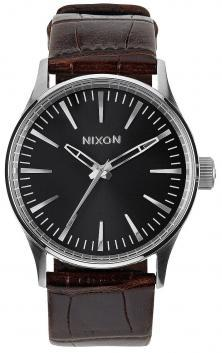 Hodinky Nixon Sentry 38 Leather Brown Gator A377 1887