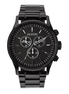 Hodinky Nixon Sentry Chrono All Black A386 001