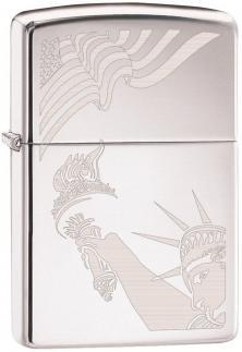 Zapalovač Zippo Flag and Lady Liberty 2265