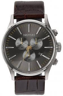 Hodinky Nixon Sentry Chrono Leather Brown Gator A405 1887
