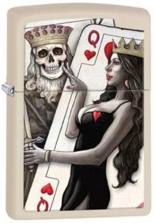 Zapalovač Zippo Skull King and Queen Beauty 26008