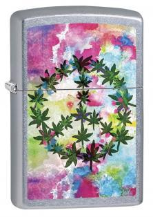 Zapalovač Zippo Cannabis Leaf and Peace 6687