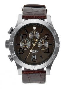 Hodinky Nixon 48-20 Chrono Leather Brown Gator A363 1887