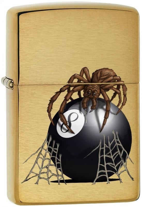 Zapalovač Zippo Eight Ball With Spider 7958